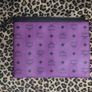 MCM clutch pouch in purple 💜